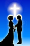 Bride_groom_Cross Royalty Free Stock Photos