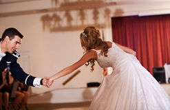 Bride and Groom Dance Stock Photography
