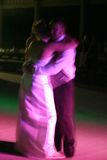 Bride and Groom dancing. Slow shutter speed for intentional blur Stock Photos