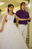 Bride and groom dancing the first dance at their Stock Photography