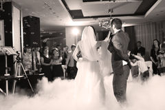 Bride and groom dancing waltz Royalty Free Stock Images