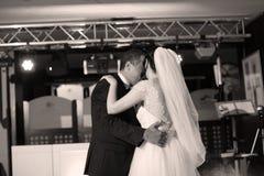 Bride and groom dancing waltz Royalty Free Stock Image