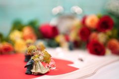 bride and groom dancing in wedding party stock images