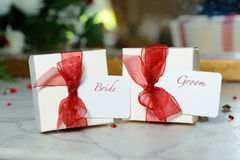 Bride and Groom decorations Royalty Free Stock Photo