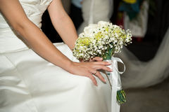 Bride and groom - detail, selective focus Stock Image