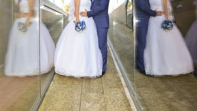 Bride and groom details. With double reflection Stock Image