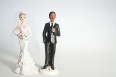 Bride and groom dolls. Stock Photo