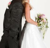 Bride and groom dresses. Studio photo Stock Image
