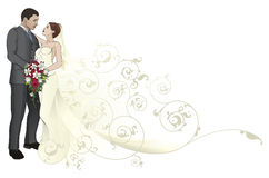 Bride and groom embracing background pattern Stock Image