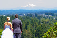 Bride and Groom with Fabulous View Stock Photos