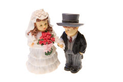 Bride and groom figurine Royalty Free Stock Images