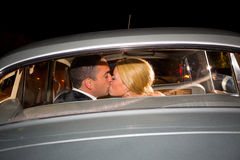 Bride and Groom Final Kiss Royalty Free Stock Photos