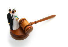 Bride and groom gavel Royalty Free Stock Photos