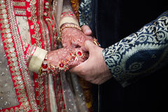 Bride groom hands Royalty Free Stock Images