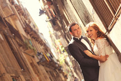 Bride and groom. Happy together Stock Photo