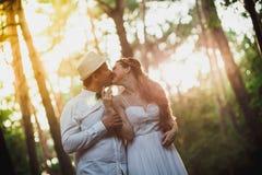 Bride and groom having fun Royalty Free Stock Image