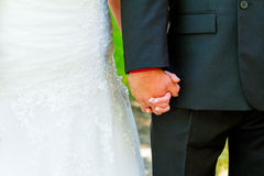 Bride Groom Holding Hands royalty free stock photography
