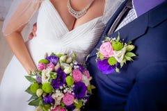Bride and groom a hug Royalty Free Stock Image