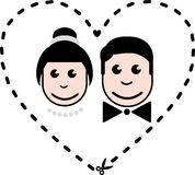 Bride and groom icons Royalty Free Stock Photo