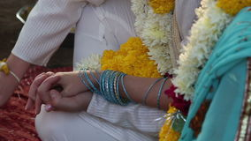 Bride and groom on Indian wedding ceremony Stock Image
