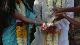 Bride and groom on Indian wedding ceremony Stock Photo