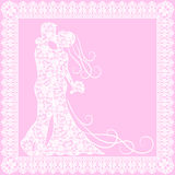 Bride, groom and lace Royalty Free Stock Photos