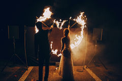 Fireshow in awedding Royalty Free Stock Images