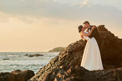 Bride and groom in love Royalty Free Stock Image