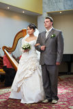 Bride and groom marriage registration Stock Images