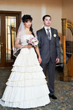 Bride and groom at marriage registration Royalty Free Stock Photography