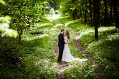 Bride and groom in May Royalty Free Stock Photo