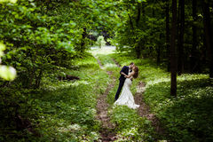 Bride and groom in May Stock Photos