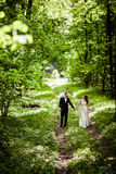 Bride and groom in May Royalty Free Stock Photography