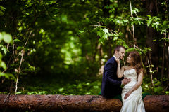 Bride and groom in May Royalty Free Stock Photos
