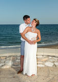 Bride and Groom near the Beach Royalty Free Stock Image