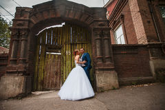 Bride and groom. On outdoor Royalty Free Stock Image