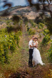 Bride and groom. On outdoor Stock Image