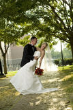 Bride and Groom Outdoors royalty free stock images