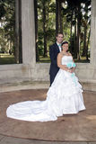 Bride and Groom Outdoors (1) Royalty Free Stock Images
