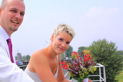 Bride and groom photo shoot Stock Photos