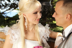 Bride and groom, portrait Royalty Free Stock Photography