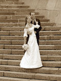 Bride and Groom Portrait Stock Photography