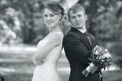 Bride and groom portrait Royalty Free Stock Photos