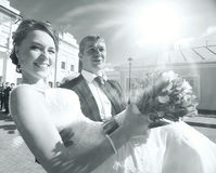 Bride and groom portrait Royalty Free Stock Images