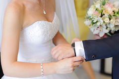 Bride and Groom Preparation Royalty Free Stock Images