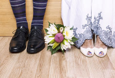 Bride and groom ready for ceremony Stock Photo