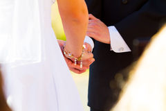 Bride Groom Ring Exchange Royalty Free Stock Images