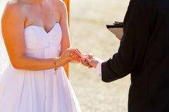 Bride Groom Ring Exchange Royalty Free Stock Photos