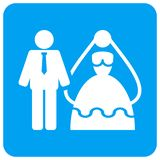 Bride And Groom Rounded Square Raster Icon vector illustration