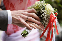 Bride and groom's hands Royalty Free Stock Photos